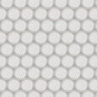 Tissu patchwork pistils en nuances de gris - Flourish