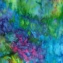 Tissu batik marbré multicolore