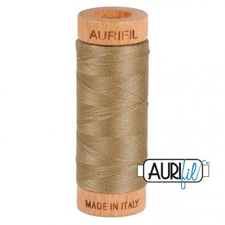 Fil de coton Mako 80 Aurifil - Beige 2370