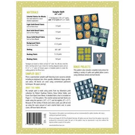 Spectaculaire Savane - Modèle de patchwork d'Elizabeth Hartman (Spetacular Savana)