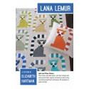Lana, le lémurien - Modèle de patchwork d'Elizabeth Hartman (Lana Lemur)