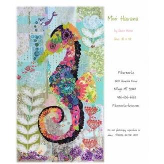 Ebba, l'hippocampe en fusing - fiche de patchwork contemporain