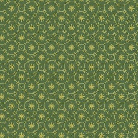 Tissu patchwork mosaïque fond vert foncé - Evergreen d'Edyta Sitar