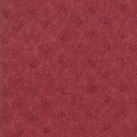 Tissu patchwork classique fleurs bordeaux ton sur ton - Kansas Troubles