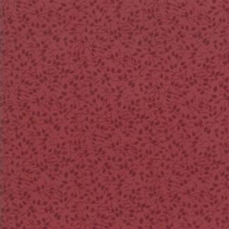 Tissu patchwork classique petit feuillage bordeaux ton sur ton - Kansas Troubles