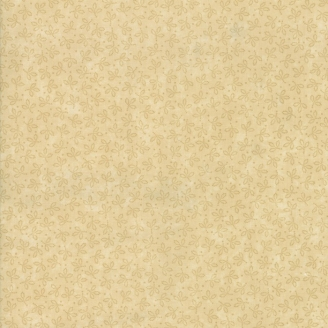 Tissu patchwork classique petites feuilles ton sur ton sable - Kansas Troubles