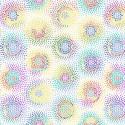 Tissu patchwork en grande largeur (270 cm) rosaces multico fond blanc