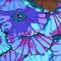 Tissu Kaffe Fassett Lotus Leaf bleu