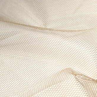 Tissu mesh (tissu filet) by Annie - Ecru Naturel