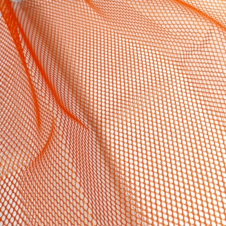 Tissu mesh (tissu filet) by Annie - Orange Citrouille
