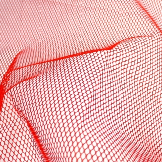 Tissu mesh (tissu filet) by Annie - Rouge atomique