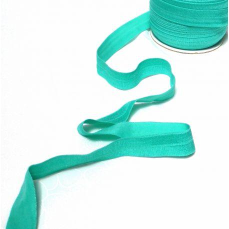 Biais élastique pré-plié de By Annie, au mètre - Turquoise