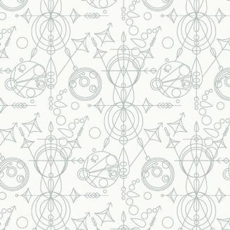 Tissu patchwork Mercure gris fond blanc - Sunprints d'Alison Glass
