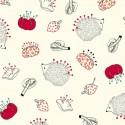 Tissu patchwork portes-épingles fond crème - Sew What ?