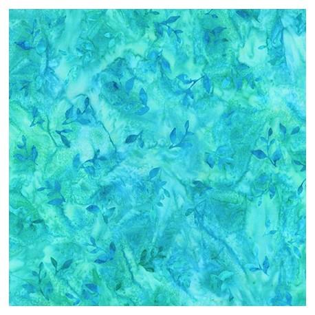 Tissu Batik arbres brun-vert