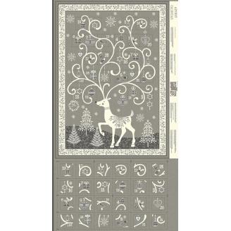 Calendrier de l'Avent renne gris scandinave