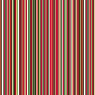 Tissu patchwork rayures rouges vertes et blanches