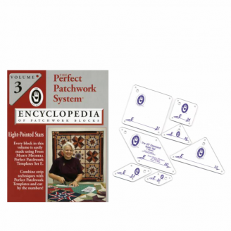Pack set E + Volume 3 de l'encyclopédie du patchwork de Marti Mitchell (anglais)