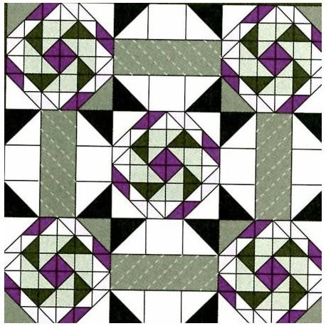 Pack sets A et B + Volume 1 de l'Encyclopédie des blocs de patchwork (en anglais)