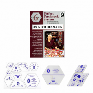 Pack Hexagones : sets G et H + Volume 6 de l'encyclopédie du patchwork de Marti Mitchell (anglais)