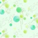 Tissu patchwork fleurs dans le vent coloris vert menthe - Abloom