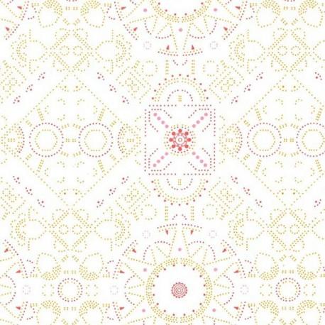 Bulle Floral Cercles 100/% popeline de coton tissu patchwork