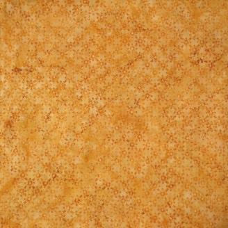 Tissu Batik croisillons de fleurs ocre