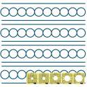 Set de 5 cercles entre les lignes - Règles à quilter Westalee_