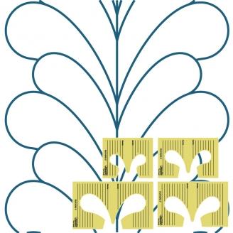 Plumes, Set de 4 gabarits - Règle à quilter Westalee