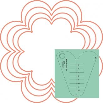 Toile d'araignée n°10 (Spin an Echo) - Règle à quilter Westalee