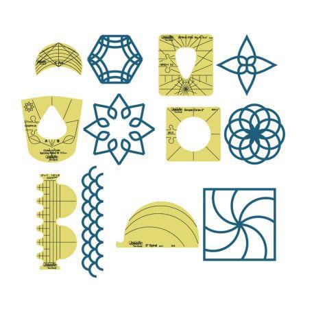 Set de 6 motifs différents - Règles à quilter Westalee
