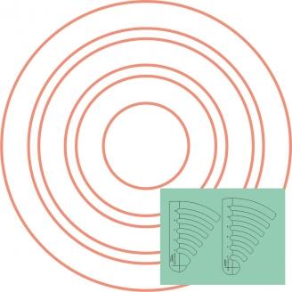 """Set de Cercles n°1 de 2"""" à 12"""" de diamètre - Règle à quilter Westalee"""