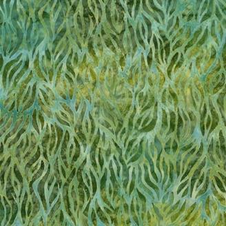 Tissu Batik bambouseraie verte