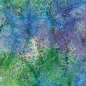 Tissu Batik feux d'artifice bleu / vert / violet - Autentiks Batiks