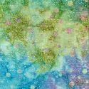 Tissu Batik bulles fond vert violet - Autentiks Batiks
