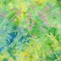 Tissu Batik libellules fond vert - Autentiks Batiks