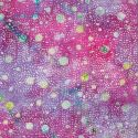 Tissu Batik bulles fond violet bleu - Autentiks Batiks