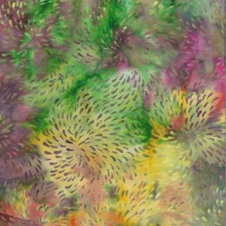 Tissu Batik feux d'artifice multicolores - Autentiks Batiks
