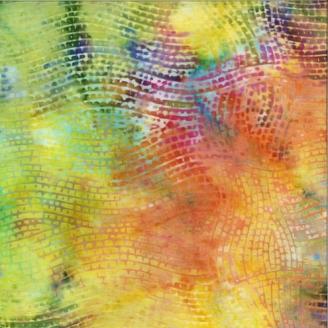 Tissu Batik multicolore vagues géométriques - Autentiks Batiks