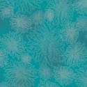 Tissu patchwork dahlia fond bleu Capri - Floral Elements