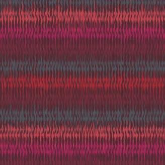 Tissu patchwork rayures fantaisie rouge rose corail - Trinkets Fusion