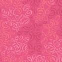 Tissu patchwork feuilles ton sur ton rose vif - Nature Elements