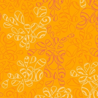 Tissu patchwork feuilles ton sur ton orange Mangue - Nature Elements