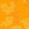 Tissu patchwork feuilles ton sur ton orange Mangue - Nature Elements