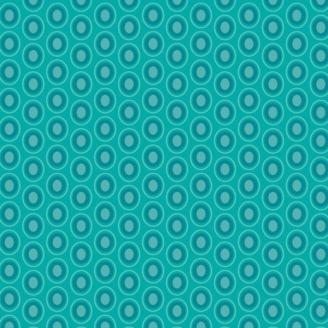 Tissu patchwork ovales bleu lagon - Oval Elements