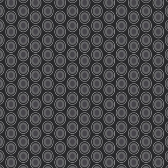 Tissu patchwork ovales noir réglisse - Oval Elements