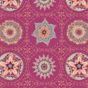 Tissu patchwork Mandala fond violine - Soulful