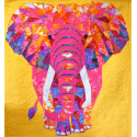 The Elephant Abstractions quilt (l'Eléphant) - Version Emma