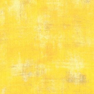 Tissu patchwork faux-uni patiné jaune citronnelle - Grunge de Moda