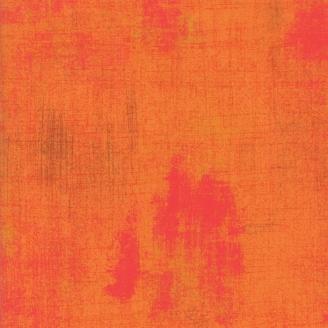Tissu patchwork faux-uni patiné brun roux - Grunge de Moda